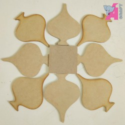 Folding Rangoli - Pan 8 piece