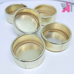 Metal Tea Light Holder Stripes 1 Piece