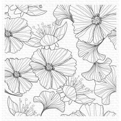 Loosely Lined Flowers Background