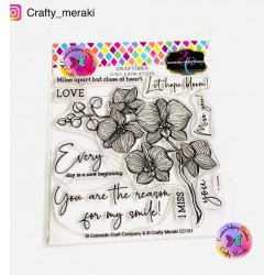 CRAFTY MERAKI ONE OF A KIND CLEAR STAMP SET