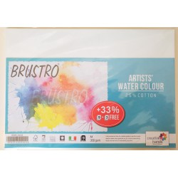 Brustro Artists' Watercolour Paper 300 GSM 25% Cotton, A4 Size