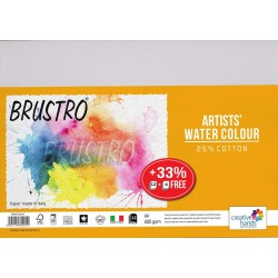 Brustro Artists' Watercolour Paper 200 GSM 25% Cotton, A4 Size