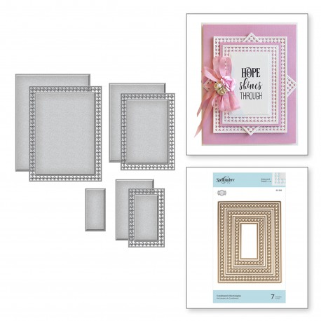 Nestabilities Candlewick Rectangles Etched Dies