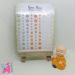 Fuzzy Peach Gloss Enamel Dots