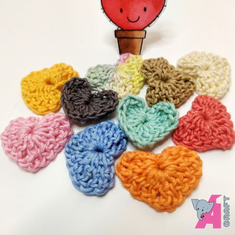 Crochet Heart Mix Pack, 10 Pieces
