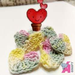 Crochet Heart Mix Pack, 5 Pieces