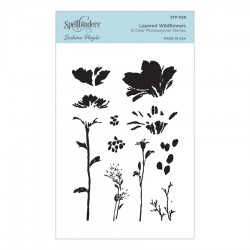 Layered Wildflowers Clear Stamp Set by Sushma Hegde