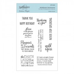 Wildflower Sentiments Clear Stamp Set by Sushma Hegde