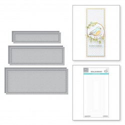 Hemstitch Slimline Etched Dies from Sweet Cardlets II Collection by Becca Feeken