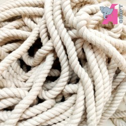 8 mm Twisted Cord, Off White, 1 Meter