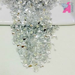 2*4 mm Tear Drop Clear Rhinestones