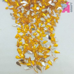 2*4 mm Tear Drop Gold Yellow Rhinestones