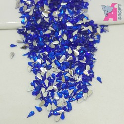 2*4 mm Tear Drop Ink Blue Rhinestones