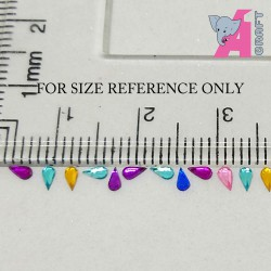 2*4 mm Tear Drop Lavendar Rhinestones