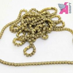 2 mm Opaque Ivory Chain Golden Cup