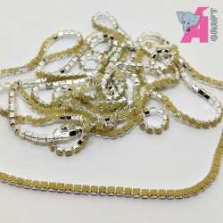2 mm Opaque Ivory Chain Silver Cup