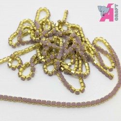 2 mm Opaque Onion Chain Golden Cup