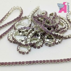 2 mm Opaque Onion Chain Silver Cup