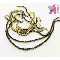 2 mm Navy Blue Chain Golden Cup