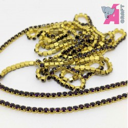 2 mm Purple Chain Golden Cup