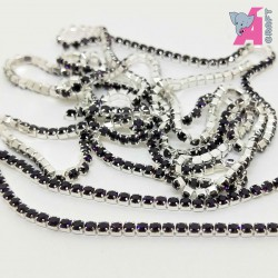 2 mm Purple Chain Silver Cup