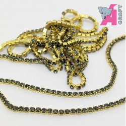 2 mm Black Diamond Chain Golden Cup