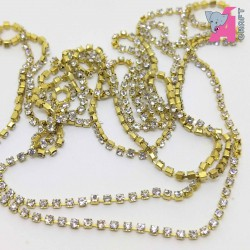 1.5 mm Transparent Chain Golden Cup