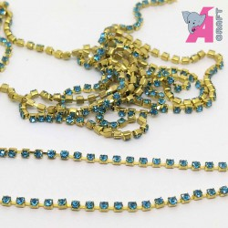 1.5 mm Turquoise Chain Golden Cup